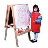 3-in-1 Easels with Whiteboard and Chalkboard (with magnetic whiteboard, Paint Box and Chalk Tray)