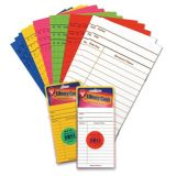 Library Cards - Assorted Bright Colours (50/pk)