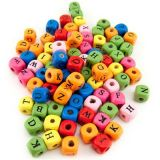 ABC Wooden Cube Beads