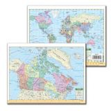 Canada World Map Notebook Size