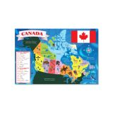 Floor Puzzle - Map of Canada 48 pieces, 36 x 24