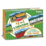 4-in-1 Linking Floor Puzzles - Trains 96 Pieces