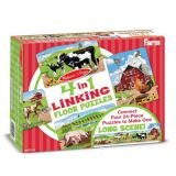 4-in-1 Linking Floor Puzzles - Farm 96 Pieces