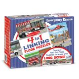 4-in-1 Linking Floor Puzzles - Emergency Rescue 96 Pieces