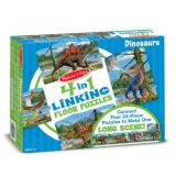 4-in-1 Linking Floor Puzzles - Dinosaur 96 Pieces