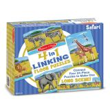 4-in-1 Linking Floor Puzzles - Safari 96 Pieces