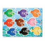 Colourful Fish Peg Puzzle (9pc)