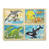 4-In-1 Sea Life Jigsaw Puzzle
