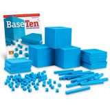 Base Ten: Class Set: Plastic Cubes Class Set: 600 Units, 20 Rods, 20 Flats, 3 Cubes and 96 page Base Ten book