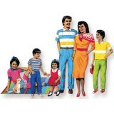 Families of The World Felt Set - Hispanic Family includes: 7 figures - 3 to 15 tall.
