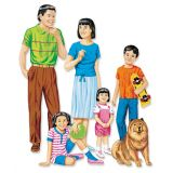 Families of The World Felt Set - Asian Family includes: 6 figures - 5 to 151?4 tall.