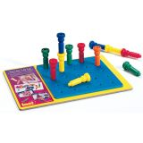 Tall Stacker™ Pegs and Pegboards - 25 Pegs, 8 25-hole board