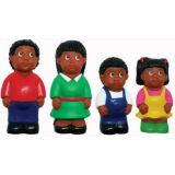 "5"" Multicultural Family Figures - African American"