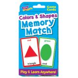 Game Cards - Colours & Shapes Memory Match