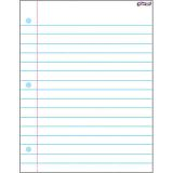 Wipe-Off® Charts - Notebook Paper (17x22)