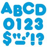 Blue 2-Inch Casual Uppercase Letters