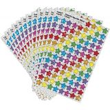Colourful Sparkle Stars Super Shapes Stickers 1300/pk