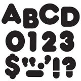 Black 3-Inch Casual Uppercase Letters