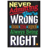 Never Admitting Your Wrong