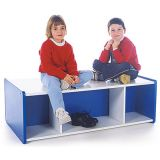 Melamine Double-Sided Storage 16H with Casters (Blue)