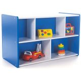 Melamine Double-Sided Storage 30H with Casters (Blue)