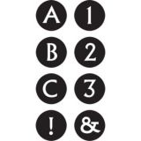 Black & White Alphabet Mini Stickers