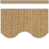 Burlap Scalloped