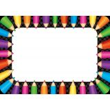 Colored Pencils Name Tags/Labels (36/pk)