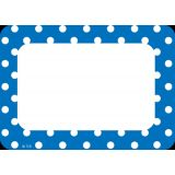 Blue Polka Dots Name Tags (36/pk)