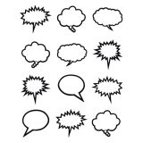 Black & White Mini Speech-Thought Bubble (36/pk)