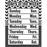 Black/White Chevrons/Dots Days of Week