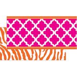 Orange and Pink Wild Moroccan Double Sided Trimmer (36')