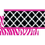 Black and Pink Wild Moroccan Double Sided Trimmer (36')