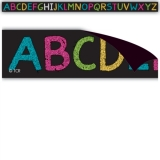 Chalkboard Alphabet Brights Magnetic Strips
