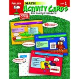 Math Activity Cards For Early Finishers - Grade 1