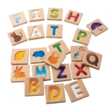 Alphabet A-Z Wooden Set (26 Tiles)