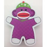 Sock Monkeys Magnetic Whiteboard Eraser
