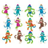Sock Monkeys (Patterns) Mini Accents Variety Pack