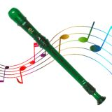 Grover Candy Apple 2 Piece Recorder, Green