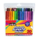 30ct Washable Super Tip Markers