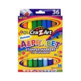 18ct Double-Ended Stamper Markers - Alphabet/Fun Shapes