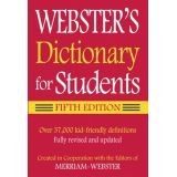 Webster Federal Street Press Book Dictionary For Student, 5th Edition, Paperback