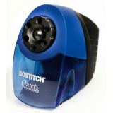 Bostitch QuietSharp 6 Classroom Electric Pencil Sharpener, 6-Holes, Blue