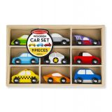 Wooden Cars Set, 9 Pieces
