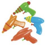 Plastic Space Squirt Guns 12/pk