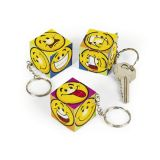 Mini Plastic Fun Magic Cube Puzzle Key Chains, 12/Pack