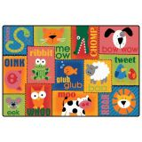 Animal Sounds Toddler Rug, 6'x9'