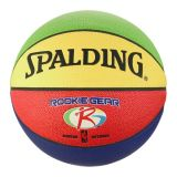 Spalding Basketball, Rookie Gear Multi-color 27.5, high performance composite cover, for indoor/outdoor play