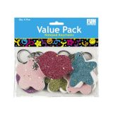 Mini Glittered Notepad Key Chains, 36/Pack