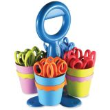 Microban Antibacterial Classpack Scissors, 24 in Caddy with 4 Cups, Pointed